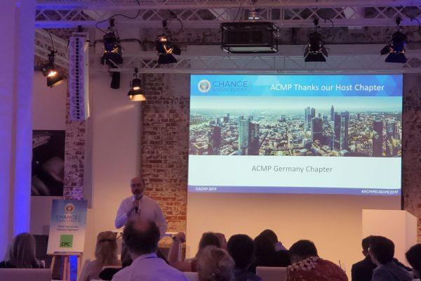 Erste europäische ACMP Change Management Konferenz in Deutschland mit uns als Co-Gastgeber war ein voller Erfolg!